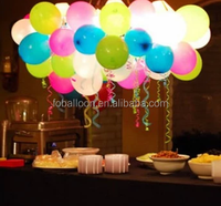 wholesale led balloon for wedding party factory direct led night light up balloon 12 inch white light mixed color balloon