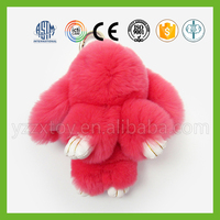 Fashion design lovely soft stuffed bunny rabbit keychain toy for gifts