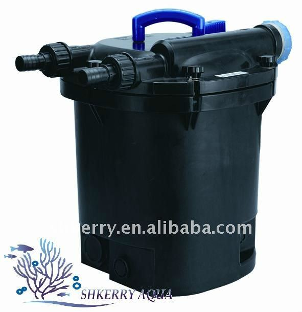 Estanque de filtro prensa jard n estanque de filtro filtro for Filtro estanque koi