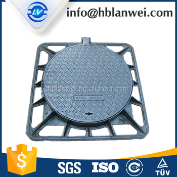 Rubber Lock Round Manhole Cover Well Cover with Frame