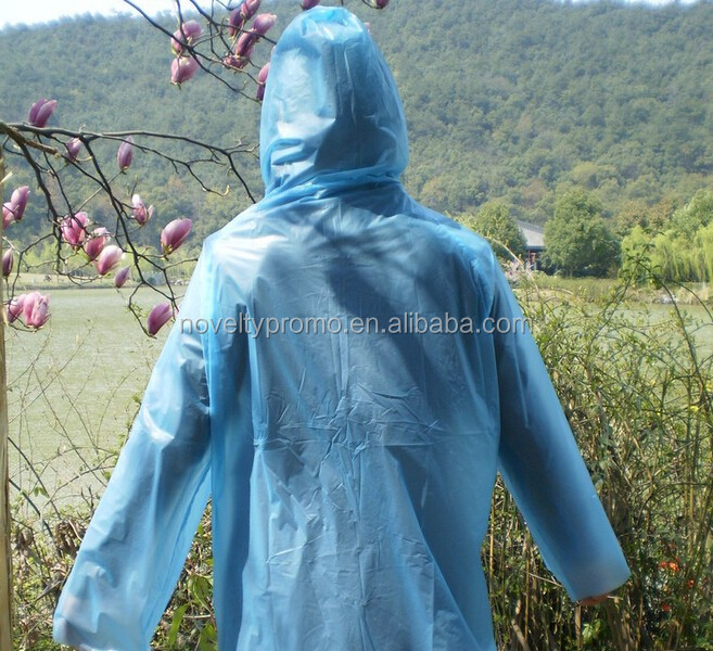 Logo imprinted Adult Disposable Rain Coat
