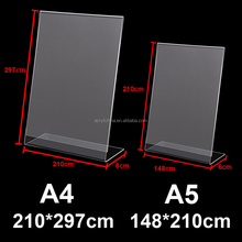Acrylic Poster Menu Holder Perspex Leaflet Display Stands Name Holder A4 A5
