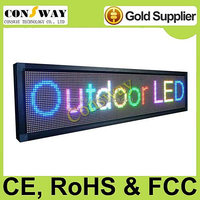 Free shipping CE approved pitch 10mm outdoor full color led displays with RGB color and high brightness