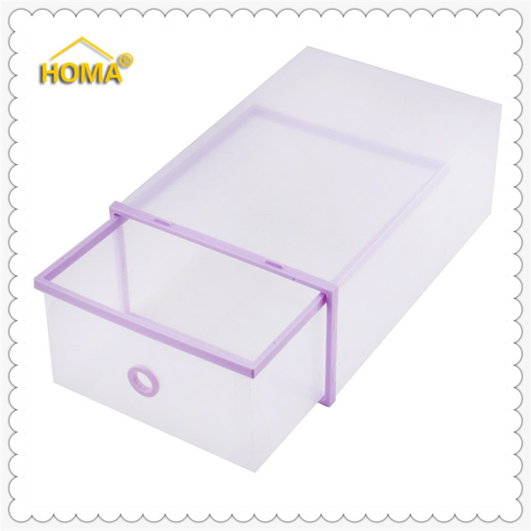 Storage shoe boxes clear drawer transparent organizers