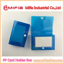 wholesaler plastic mini pp poly index card file box with button snap