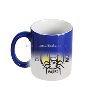 promotion festival gifts custom heatsensitive sublimation magic full color changing porcelain ceramic mug 11oz