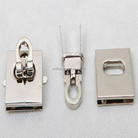 guangzhou factory metal twist lock for leather handbag / briefcase