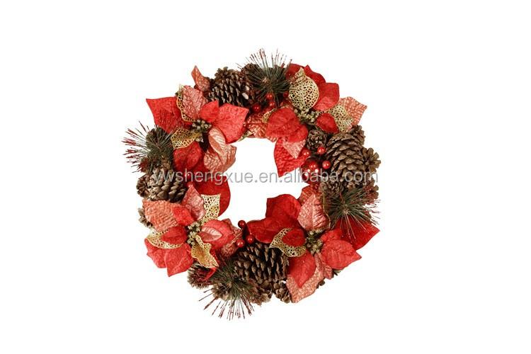 New arrival christmas wreath tree ornaments bulk