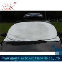 Hot design factory sale sun heat protection silver car cover made in china