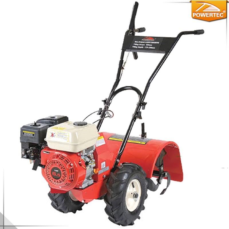 5 Rotary Tiller : Powertec hp mm gasoline garden rotary tiller