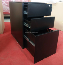 Metal Mobile Pedestal Filing Fireproof Thin Edge Sliding Cabinet