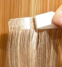 Tape On Hair Extension Raw Hair Material Is from 100 % Virgin Ponytail