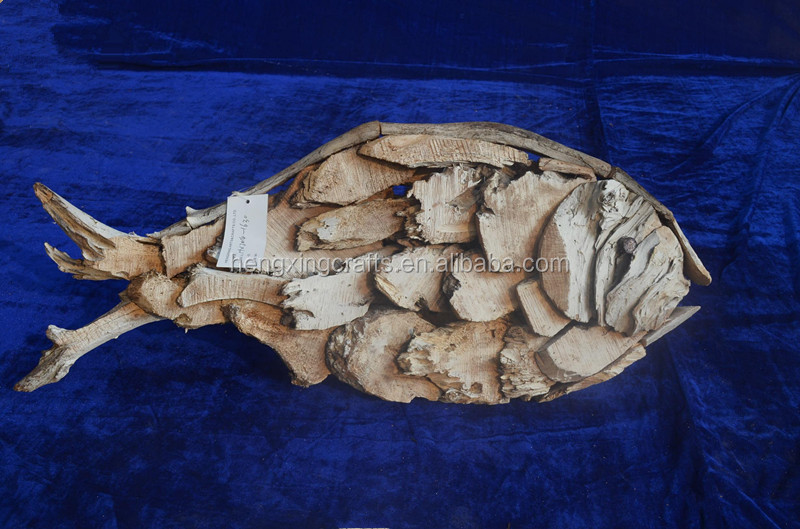 Decorative Hand Carved Wooden Artificial Fish