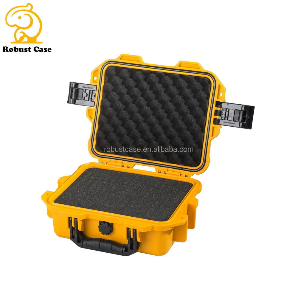 IP67 Injection molded Waterproof Heavy Duty Hard Plastic Equipment Case tool Instrument Carrying Case with foam for electronics