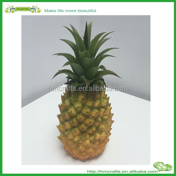 Wholesale Plastic fruit Large artificial pineapple for home decoration Artificial Fruit