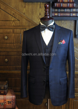 Fashion Stylish Italian Wool Fabric Made to Measure High Quality Elegant Mens Dress Suit