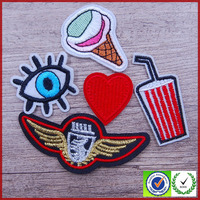 High quality so cute custom iron on embroidered patches