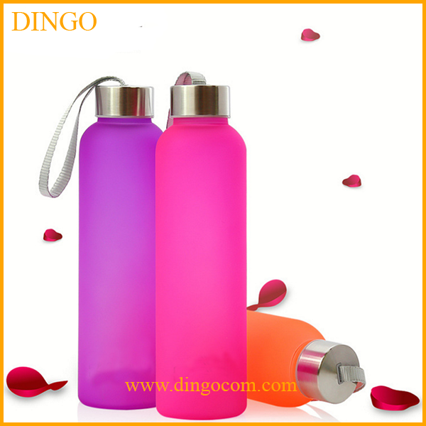 Hot selling glass sport water bottle