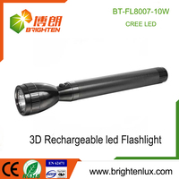 Factory Bulk Sale High Power Emergency Outdoor Used Metal Cree led rechargeable flashlight led
