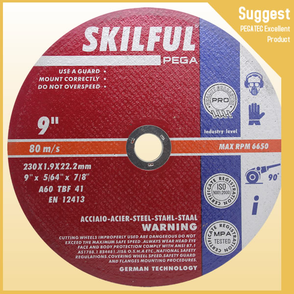 skiful Gold Super thin cutting wheel for metal and Stainless steel
