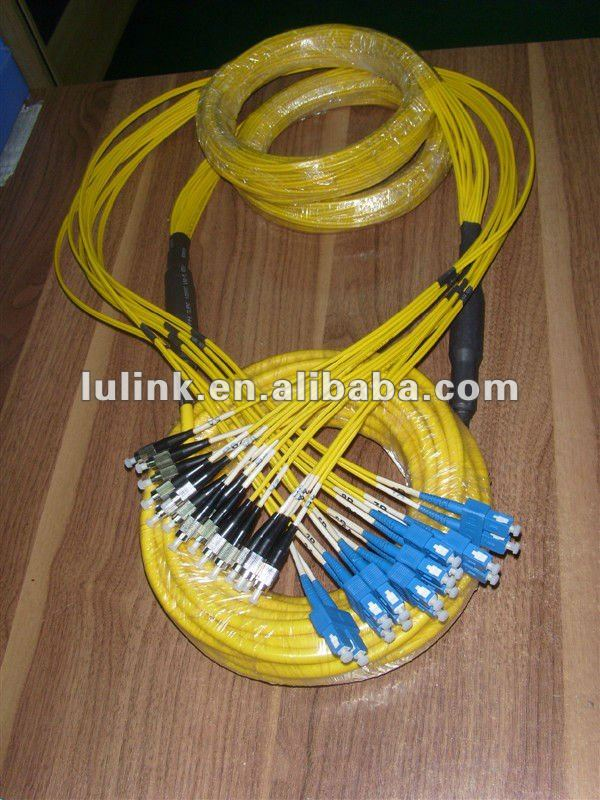 SC-FC 16 core fiber optic patch cord,multi core fiber optic