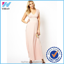Yihao 2016 sexy V-Neck Short Sleeve Evening Pregnancy Clothes Pregnant Women Dresses
