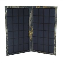 6W foldable solar charger with High Efficiency Safety Solar Panels