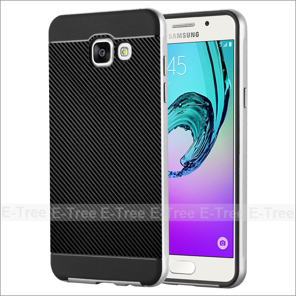 Luxury Hybrid Carbon Fiber TPU PC Back Case Cover For Samsung Galaxy A5 2016 A510