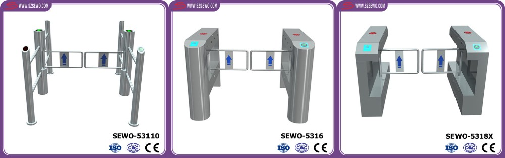 NO Voice Anti collision Brushless Motor excellent design building access control swing barrier