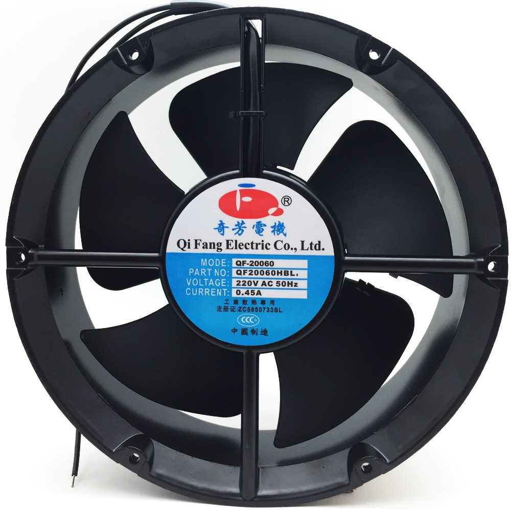 high CFM 350 3000 RPM 230v ac axial fan 200mm for Machinery equipment cooling control system