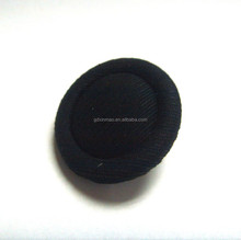 black round fabric cover button for garments