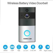 HOMSCAM WiFi Smart Visual Intercom Enabled WIFI Video Doorbell Camera Smart Security Wifi Ring Video Doorbell with Night Vision