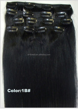 8pcs/set Brazilian Straight Clip in Hair Extensions Blonde E-forest Hair production