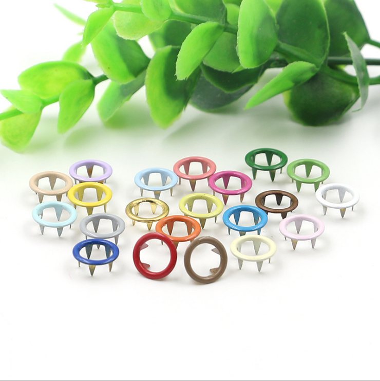 Hot sale colorful metal prong snap button