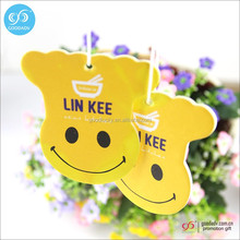 2016 hot sale car air freshener fragrance custom paper air freshener