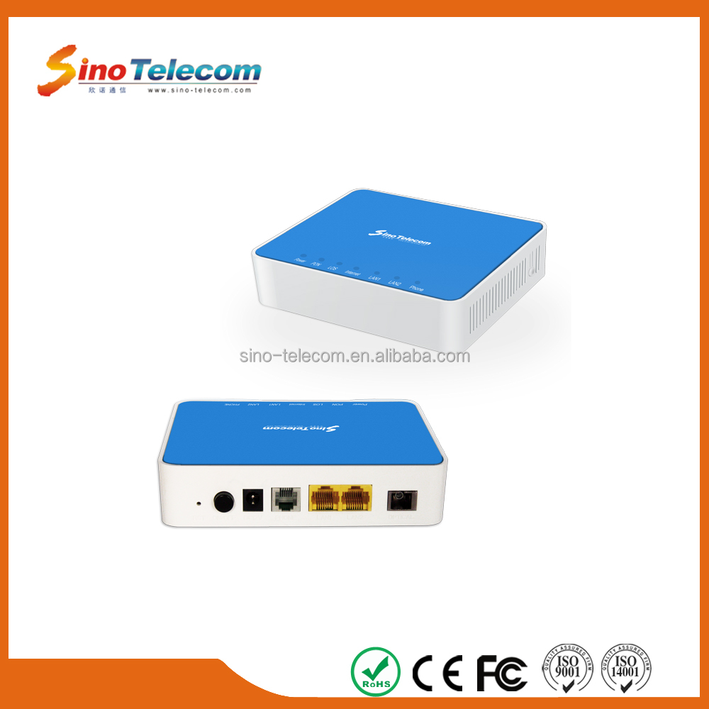 Sino-Telecom FTTH Solution 4 Port WIFI GPON ONU Modem 1GE+3FE+2FXS+WIFI