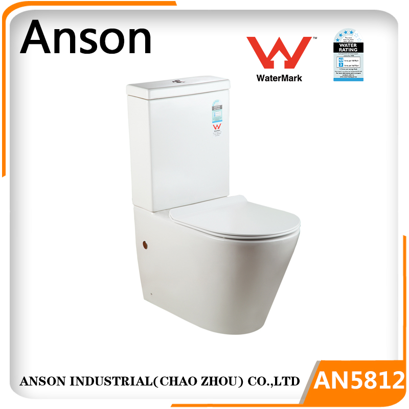 Watermark toilet back to wall two piece toilet Wells toilet Australian back inlet dual flush 4.5/3L WELS 4 star rating