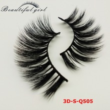cluster sexy 3d synthetic silk eyelash extension