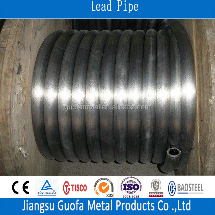 Low Melting Temperature Refined Seamless Lead Tube For Heater Industy