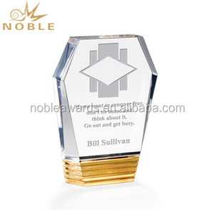 Cheap Factory Custom Blank Amber Acrylic Award Trophy Plaque