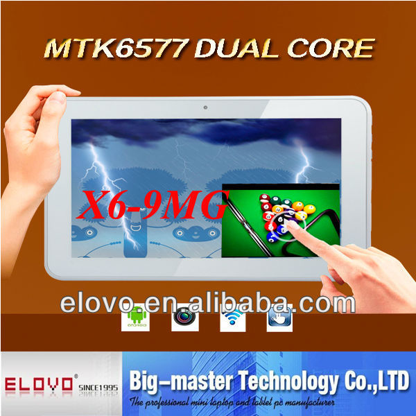 9 inch MTK dual core tablet PC 3G SIM card slot with gps navigation bluetooth
