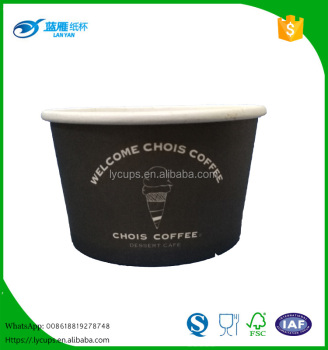 8oz disposable personalized ice cream paper cup/bowl