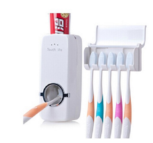2016 New 1 Set Automatic Toothpaste Dispenser Bathroom Household Items Toothpaste Squeezer Toothbrush Holder set