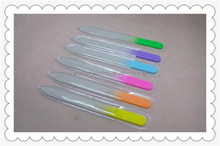 OEM Welcome Custom Printed Colorful Double Side Glass Nail File