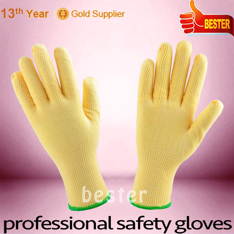 Top grade excellent quality knitted glove coated with pvc dots