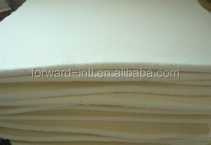 1mm - 100mm Natural White 100% Wool Felt