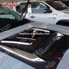 Auto car chrome accessories body kit air flow bonnet scoop hood scoop for toyota hilux revo
