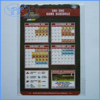 game schedule magnet