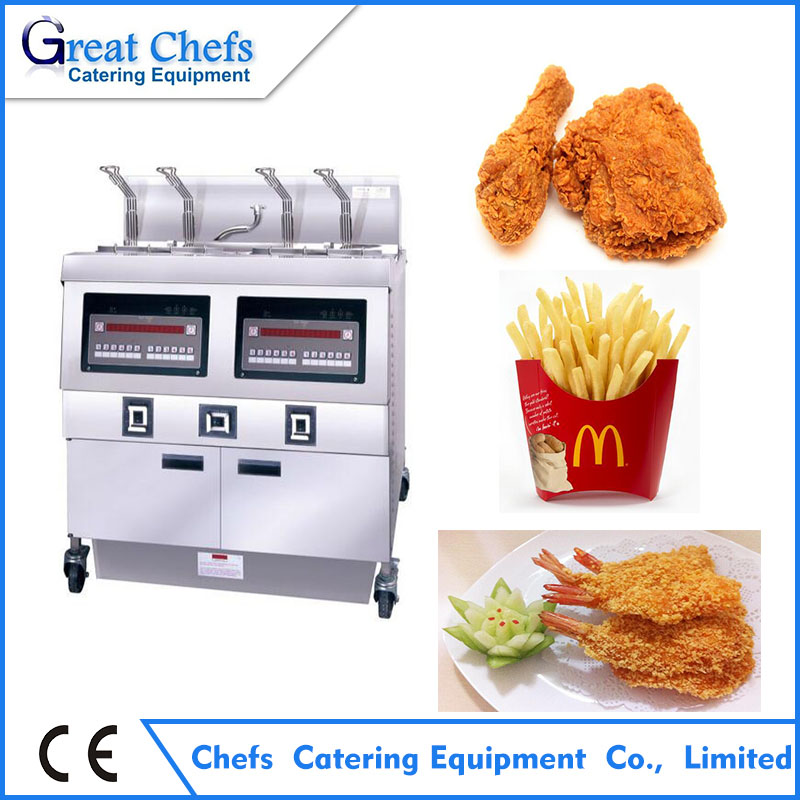 Henny Penny 2 Tanks 4 Baskets Electric Open Deep Fryer for KFC , Burger King