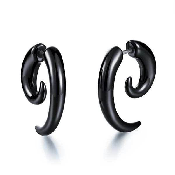 New hottest ear piercing jewelry acrylic fake spiral taper wholesale